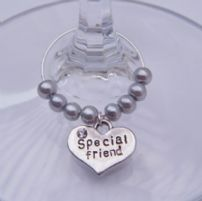 Special Friend Wine Glass Charms